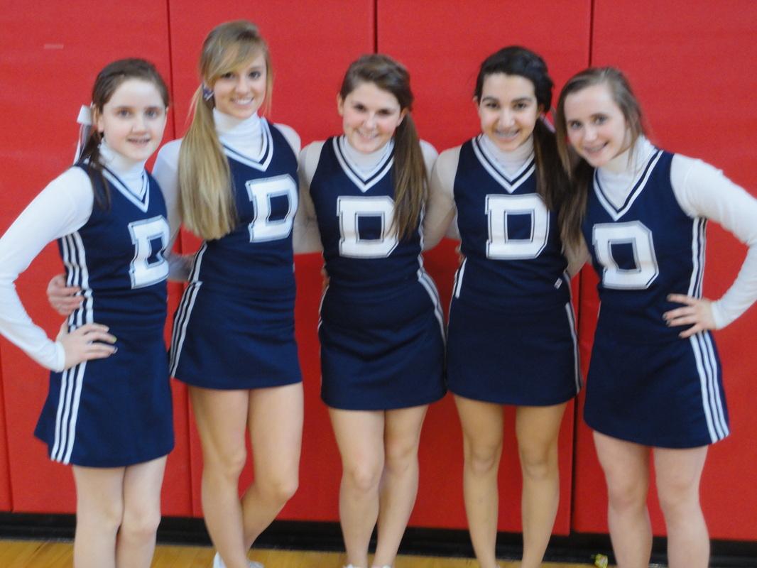 Girl middle school teen cheerleading